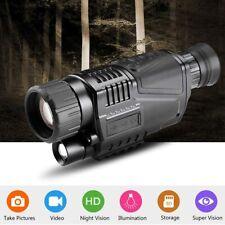 5X40 Night Vision Monocular Binoculars Telescopes Scope Hunting Infrared Ip54 Us