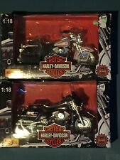 2X NIB 1997 Harley Davidson ROAD KING HERITAGE SPRINGER 1/18 Die Cast