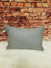 "HUDSON PARK COLLECTION 800-TC GRAPHITE GRAY 12"" x 18"" DECORATE PILLOW"
