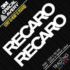 2 x Recaro Sticker Vinyl Seat Slivia Civic Accord EP3 s2000 Funny JDM DRIFT