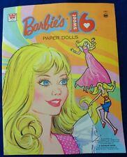 Vintage Barbie Paper Dolls Uncut Sweet Sixteen Estate Find  Mod Era