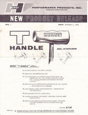 "HURST Brushed Aluminum T-Handle 3/8""-16 coarse thread for chrome shifter sticks"