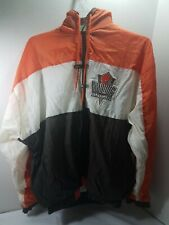90s Cleveland Browns Jacket Windbreaker Team NFL LOGO 7 Youth XL 18-20 Hooded