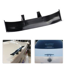 1 Pcs 17cm Black Carbon Fiber Car Mini Rear Tail Spoiler Wing Decoration Auto