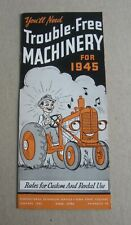Old Vintage 1945 - Agricultural MACHINERY Brochure - Iowa State College - AMES