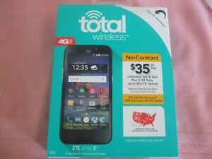 "Total Wireless-ZTE ZFIVE 2 LTE No Contract  Pre-Paid Phone-5"" Screen-8 GB-NIB"