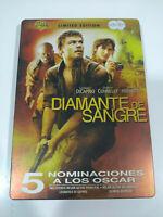 Diamantes de Sangre Leonardo DiCaprio Steelbook DVD + Extras Español Ingles