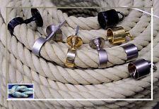 Seilträger 30mm Messing für Handlaufseil, Treppenseil, Wand Seilhalter komplett