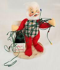Annalee Dolls 1995 Christmas Santa Claus Doll w Tree Lights