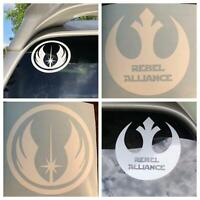 Star Wars vinyl decal/sticker combo (3.5 x 3.5 - large) set of 2 Made in USA