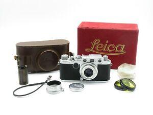 Leitz Wetzlar Leica IIf Messsucherkamera + Elmar f=5cm 1:3.5 Objektiv