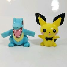 Nintendo Pokemon Action Figure Sasco Totodile & Pichu plastic toy