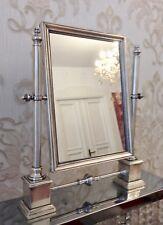 Lusso Specchio con Supporto Antico Versilbertes Ottone per Trucco Regolabile