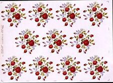 CERAMIC  DECALS ROSE POM -POM 303549 11 SHEET 9 cm LONG X 9 cm RIGHT PRICE