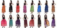 Ladies Indian Party Boho Gypsy Hippie Long Sequin Skirt Rayon variety of colors
