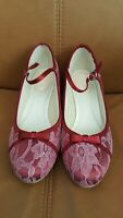 Pink Paradox London size 40 lace Mary Janes shoes in pink