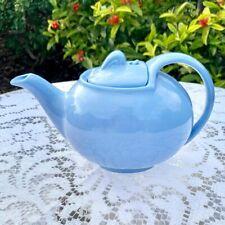 Vintage Cadet Blue Hall Ceramic Teapot