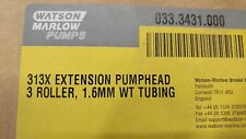 WATSON MARLOW 313X EXTENSION PUMPHEAD 3 ROLLER 1.6MM WT TUBING NEW!!!