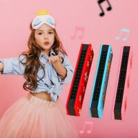 Cartoon Colorful Wood Harmonica Musical Instruments Mouth Organ for Kids