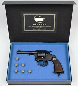 PISTOL GUN PRESENTATION CUSTOM DISPLAY CASE BOX for COLT POLICE POSITIVE 4'' .38