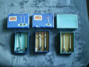 JOB LOT OF 7 X HORNBY DUBLO SIGNALS IN GC--BOXED