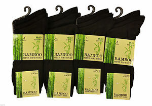 MultiPack Men's Black Luxury Bamboo Super Soft Anti Bacterial Socks A Lot:) 6 11