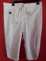 Wilson Youth White XLarge Football Practice Pant w/Snaps, Thigh/Knee Pad Pockets