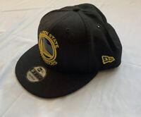 Men Golden State Warriors New Era NBA Patent Blackout 9FIFTY Snapback Cap Black
