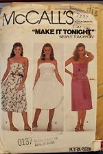 Vtg McCall's Make It Pattern 7497 Misses' Sleeveless Dress size 12 bust 34 uncut