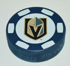 VEGAS GOLDEN KNIGHTS Poker Chip Logo on BLUE COLORED PUCK Limited Edition