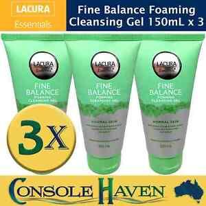 Lacura Essentials Fine Balance Foaming Cleansing Gel 150mL x 3 Face Wash Skin