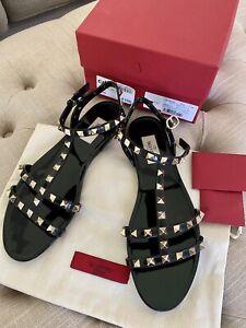 Valentino Black Rockstud Jelly Sandals, Size 39 / UK 6