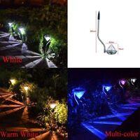 Farben LED Solar karo Licht Farbwechsel Lampe Yard Garten Leuchte Outdoor ho