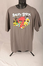 ANGRY BIRDS T Shirt Size 2XL Gray White Red Yellow Black Licensed