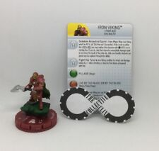 Heroclix - Iron Viking (1000 AD) 052 - The Invincible Iron Man - Chase W/ Card