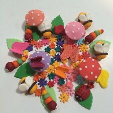Garden Theme Edible Sugar Cake Toppers X 60