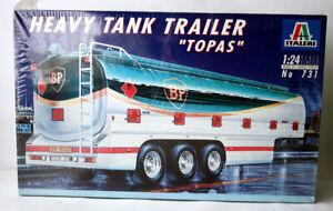 VINTAGE 1994 HEAVY TANK TRAILER TOPAS BP TRUCK MODEL KIT 1:24 ITALERI NEW SEALED
