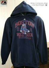 NEW MLB BOSTON RED SOX BASEBALL MAJESTIC AUTHENTIC HOODED PULLOVER SWEATSHIRT XL