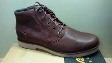 Teva Durban Leather Boot 1008302 Full Grain Ankle Boot Mens Mahogany Burgundy 14