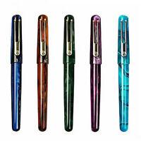 New Picasso Celluloid Fountain Pen EtSandy Aurora PS-975 Iridium F with Gift Box