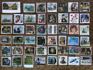 Latest Collection Of Gb Commemorative Stamps Used On Paper