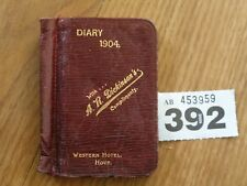 1904 DIARY WESTERN HOTEL HOVE A R DICKINSON'S