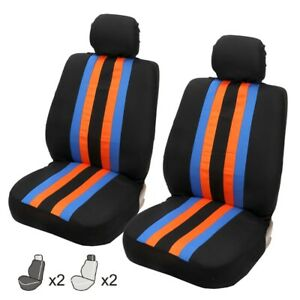 Car Polyester Protector Color Rainbow Style Seat Cover Cars Universal Accessory