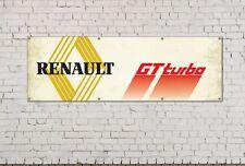 Renault gt turbo Logotipo Signo para taller, garaje, oficina O Sala De Exposición PVC Banner