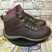 Timberland Womens Brown Leather Waterproof Lace Up High Top Boots Size 6.5