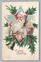 Purple-Suit Santa Claus—Rare Antique Star-of-David Christmas Toys Holly 1909
