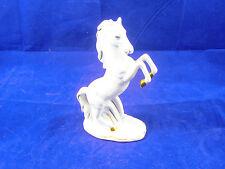 Fena-Porzellan Pferd Porzellanpferd weiß mit Gold 16 cm