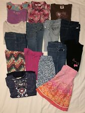 16 Piece Lot Used Girls Clothes Sz 6, 6x 6/7 Jeans Tops Skirts