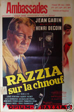 Razzia sur la Chnouf Jean Gabin movie poster print