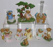 Cherished Teddies 2004 Club Members Figurines Lot of 9 Complete Set NEW Blaire